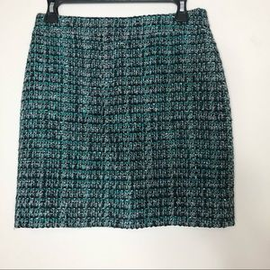 J. Crew Blue Woven Mini Skirt